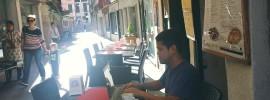 Me in a coffeshop in Venice